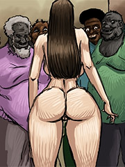 I love the taste of your dirty black balls - Slut for ugly black men by Illustrated interracial