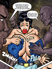 Big titties, snappin pussy, she's built for speed, I tell ya - Journalist in Peril  by Interracial collection 2016